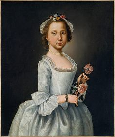 Portrait of a Lady (probably a young girl), Lawrence Kilburn, 1764; MMA 2002.259