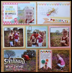 Project Life by Stampin' Up pages created by Erica Cerwin.