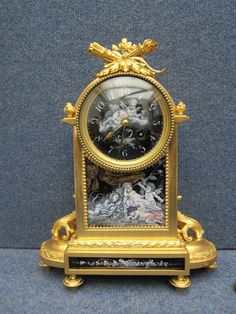 Serves French Limoges Enamel Gilt Bronze Clock, Pate-sur-pate, Napoleon III, ca. 19th Century