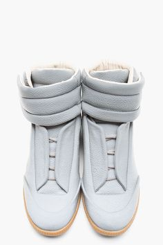 MAISON MARTIN MARGIELA Grey Reflective Stingray High-Top Sneakers
