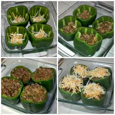 Smokey, Spicy Stuffed Bell Peppers ~Really simple and easy and inexpensive recipe. I made my own seasoning, not the taco seasoning suggested. It was great!~