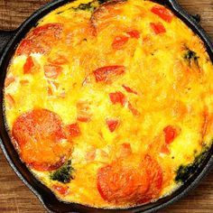 This pepperoni frittata is great high protein breakfast.. Pepperoni Frittata Recipe from Grandmothers Kitchen.