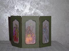 Holy Triptych, tea light screen