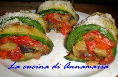 Rotolini di zucchine alle verdure, ricetta vegetariana