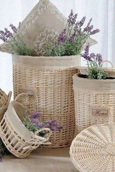 ℒ a v e n d e r ✿ in baskets