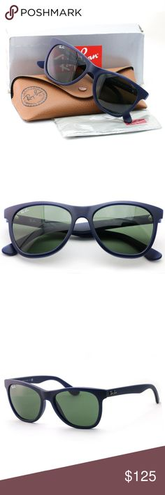 5802f1ba16950 Ray-ban Sunglasses Blue Frame 4184 New authentic Comes with Ray-ban case,