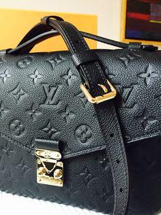 1d89fd408d85 Louis Vuitton Pochette metis Empreinte Black ❤ 😍 holt shit Louis Vuitton  Handbags Black