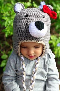 Wolf Beanie with Removable Bow - $3.00 by Dusti Prioux