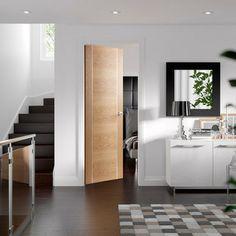 Oak 4 Light Clear Glass Folding Internal Door