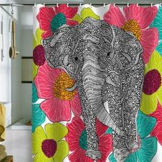 You can never go wrong with elephants and a pop of color :)