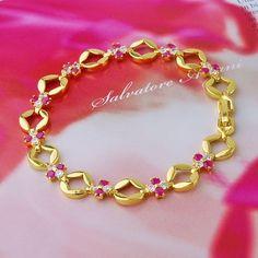 ruby 18K gold bracelet on Aliexpress.com