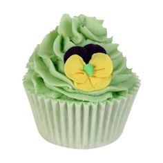 Bade-Cupcake LIME BLOSSOM & LAVENDER BRULEE von Bomb Cosmetics MIK Funshopping