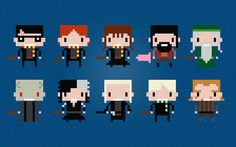 Harry Potter Characters Cross Stitch PDF by pixelpowerdesign, $7.00