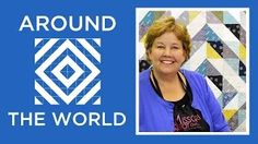 Missouri Star Quilt Company - Around the World Quilt Tutorial! Half Square Triangles make an easy yet stunning quilt!