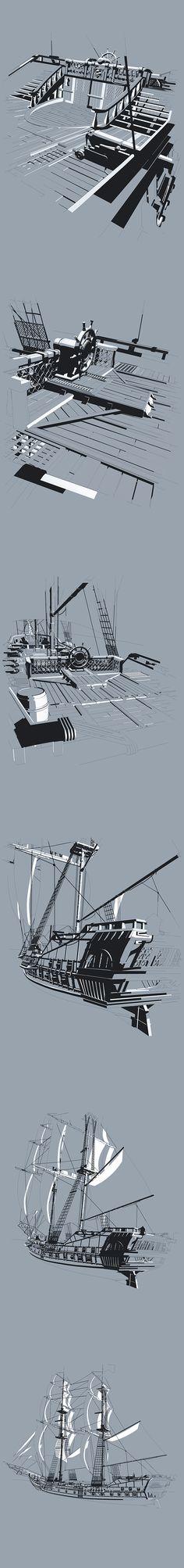 Jackdaw - Pirate Ship on Behance