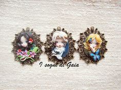 Jasmine Becket-Griffith inspired  cameos by I Sogni di Gaia