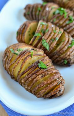 Slimming Eats Garlic Hasselback Potatoes - gluten free, dairy free, vegetarian, Whole30, Slimming World and Weight Watchers friendly