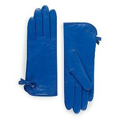 bethesda terrace side bow gloves - Love the bright blue!