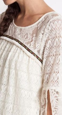 Umgee-Lace-Baby-Doll-Dress-Split-Sleeve-Shift-Bohemian-Chic-Boho-A1320 #Unique_Boho_Style