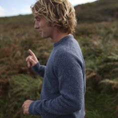 Malin Merino Crew Blueprint | Merino Wool Jumper | Finisterre UK