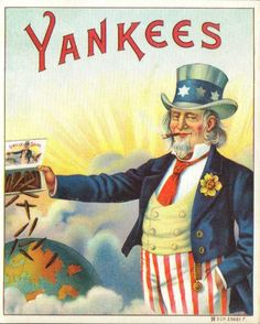 Advertising, Cigar Box Label, Yankees, Uncle Sam, Modern Postcard by markopostcards on Etsy