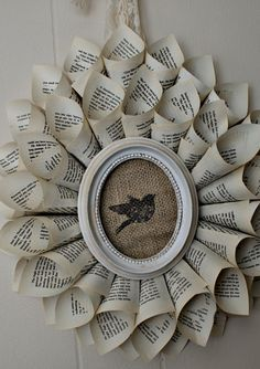 This framed burlap is a definite possibility for flower book page wreaths
