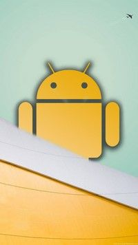 Big Yellow Bugdroid 720x1280 wallpaper for android
