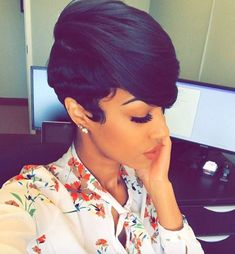 Dope Hairstyles, Cute Hairstyles For Short Hair, Weave Hairstyles, Pretty Hairstyles, Short Hair Cuts, Straight Hairstyles, Curly Hair Styles, Natural Hair Styles, Pixie Cuts