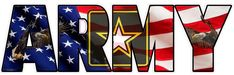 United States Army American Flag Eagle Lettering Decal from The United States Wall Decals, Vinyl Decals, Army Tattoos, American Flag Eagle, United States Army, Cartoon Pics, Betty Boop, Bumper Stickers, Bald Eagle