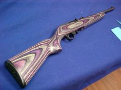 Sturm, Ruger & Co. Ruger Purple & Black Laminate Stock New Purple Gun, Purple And Black, Tactical Pocket Knife, Ruger 10/22, Weapon Of Mass Destruction, Best Pocket Knife, Fire Powers, Military Guns, Hunting Rifles