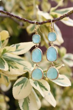 Pretty mint opal earrings from Etsy
