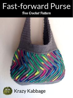 PurseHow to Crochet the Fast-forward Chevron Purse – Krazy Kabbage Bag Crochet, Crochet Gratis, Crochet Handbags, Crochet Purses, Free Crochet, Chevron Crochet, Crochet Hook Sizes, Crochet Hooks, Purse Patterns