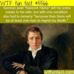 "German poet ""Heinrich Heine"" - WTF fun facts http://ibeebz.com"