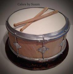 Drum grooms cake - Cake by Skmaestas Drum Birthday Cakes, Music Cookies, Music Themed Cakes, Drum Cake, Basic Cake, Cake Central, Dessert Decoration, Occasion Cakes, Cupcake Cookies