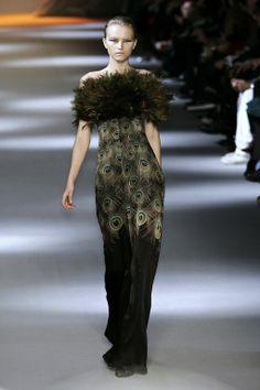 Giambattista Valli peacock dress {via the terrier and lobster blog}