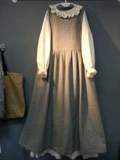 Olive's linen story – * Herringbone wool sleeveless …: Cacao sto … – Best Of Likes Share Mori Fashion, Abaya Fashion, Muslim Fashion, Modest Fashion, Fashion Dresses, Cute Dresses, Vintage Dresses, Beautiful Dresses, Hijab Style Dress