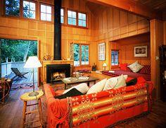 Inviting Cabin Interior by Marcusblue, via Flickr