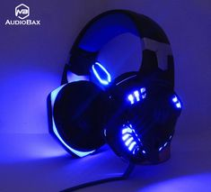 Gaming Headphones Headset with Mic LED Light for PC Gamer Kotion EACH Computer Stereo Gaming Headphones Best casque Deep Bass Game Earphone Headset Bass Headphones, Gaming Headphones, Gaming Headset, Ps4, Led Light Design, Xbox One Controller, Tablet Phone, Tech, Pc Gamer