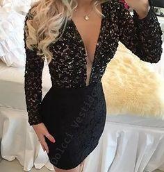 vestido justo renda com decote em tule ilusion, manga longa - Classy Short Dresses, Short Lace Dress, Classy Dress, Tight Dresses, Elegant Dresses, Nice Dresses, Cheap Homecoming Dresses, Short Gowns, Dress Collection