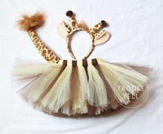 GIRAFFE HALLOWEEN COSTUME Tutu Includes Tutu Ear by taddletellshop