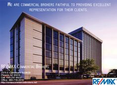 Remax Commercial Brokers is a trusted Commercial Property & Real Estate brokers in Phoenix, Thousands of office spaces, buildings and other commercial real estate all over Phoenix.