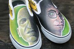 Harry Potter painted sneakers - fun!