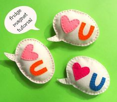 A simple to sew gift for kids to make for others. This speech bobble magnet is a fun and practical gift to make.