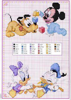 Topolino, Minnie e Pluto a punto croce