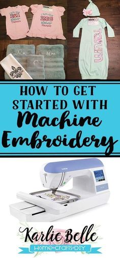 Embroidery Designs Machine How to get started with Machine Embroidery - Machine embroidery supplies needed for a beginner. Start a new hobby or your own home machine embroidery business. Machine Embroidery Gifts, Brother Embroidery Machine, Embroidery Shop, Embroidery Monogram, Embroidery Supplies, Learn Embroidery, Embroidery For Beginners, Embroidery Stitches, Embroidery Ideas