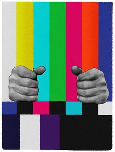 'Media is a Prison', Free Your Mind. Collage Art, Pop Art.
