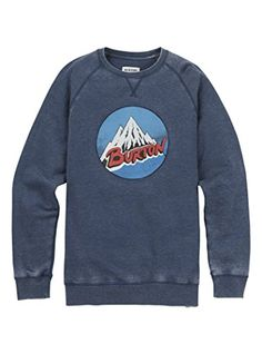 Burton Mens Retro Mountain Crewneck Hoodie Indigo Medium -- Check out this great product-affiliate link.