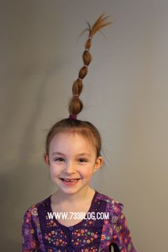 Truffala Tree Crazy Hair Tutorial - Inspiration Made Simple Truffala Tree Crazy Hair Tutorial - Crazy Hair Day Crazy Hair Day Girls, Crazy Hair For Kids, Crazy Hair Day At School, Days For Girls, Crazy Hair Days, Crazy Day, Social Media Trends, Little Girl Hairstyles, Cute Hairstyles