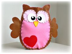Felt owl hand puppet with rattle  woodland  por LullabyMobiles, $60.00