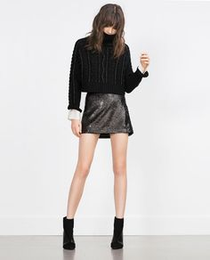 Image 1 of SEQUINNED MINISKIRT from Zara
